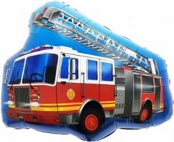 Шар фольга Фигура (27''/69 см) Пожарная машина с лестницей (Fal) - фото 10425