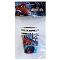 Стакан бум Человек-Паук 200мл 6шт. - фото 9640