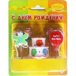 Свечи д/торта Праздничный торт 7шт /Мфп - фото 9645
