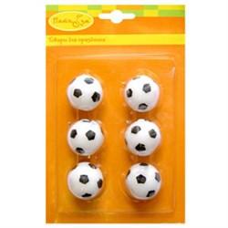 Свечи д/торта Футбольный мяч 2,5см 6шт /Мфп - фото 9647
