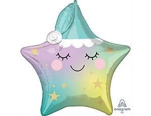 Шар фольга Фигура LITTLE STAR Звездочка Спящая P41 (An)