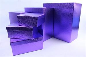 Коробка карт прямоуг из наб(10) Дизайн бумаги ФИОЛЕТОВЫЙ №3 /OMG