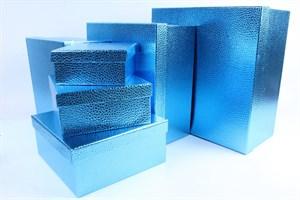 Коробка карт прямоуг из наб(10) Дизайн бумаги СИНИЙ №4 /OMG