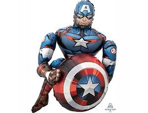 Шар фольга Фигура Ходячий Мстители Капитан Америка P93 (An)
