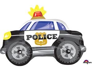 Шар фольга Фигура Машина Полиция S50 (An)