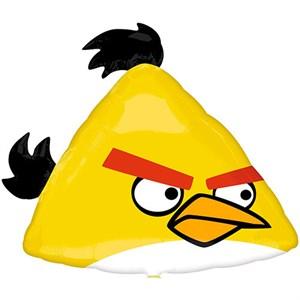 Шар фольга Фигура Angry Birds Желтая P35 (An)