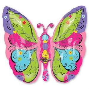 Шар фольга Фигура Бабочка садовая P35 (An)