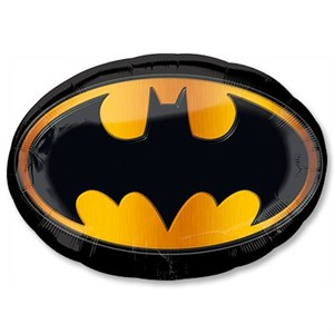 Шар фольга Фигура Бэтмен эмблема P38 (An)