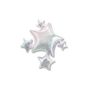 Шар фольга Фигура Звезды серебрянные P35 (An)