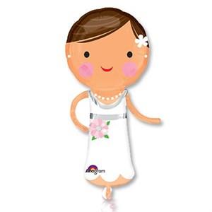 Шар фольга Фигура Красавица невеста P40 (An)