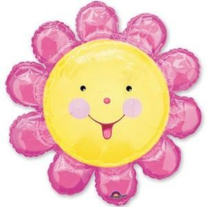 Шар фольга Фигура Цветок розовый P30 (An)