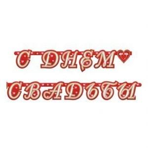 Гирлянда буквы С Днем Свадьбы Сердца 210см