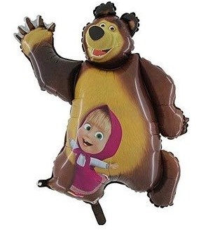 Шар фольга Фигура Маша и Медведь (Gr)