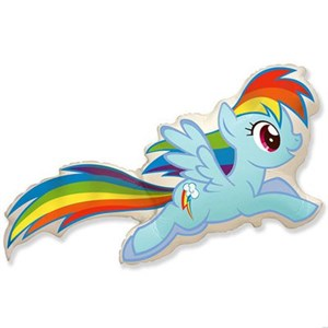 Шар фольга Фигура Пони голубой 11 (FM)