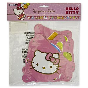 Гирлянда буквы СДР Hello Kitty 220см
