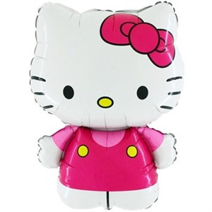 Шар фольга Фигура Hello Kitty розовая 11 (FM)