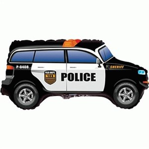 Шар фольга Фигура Машина Полиция 11 (FM)
