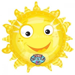 Шар фольга Фигура МУЗ Солнце
