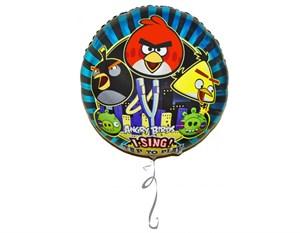 Шар фольга Фигура Джамбо МУЗ Angry Birds P75 (An)