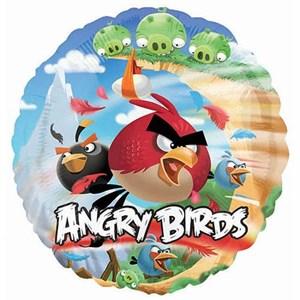 """Шар фольга 18"""" HeSAVER Angry Birds S60 (An)"""