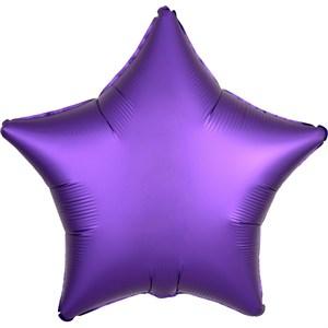"Шар фольга 19"" ЗВЕЗДА Сатин Purple Royale (An)"