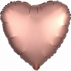 "Шар фольга 18"" СЕРДЦЕ Сатин Rose Copper (An)"