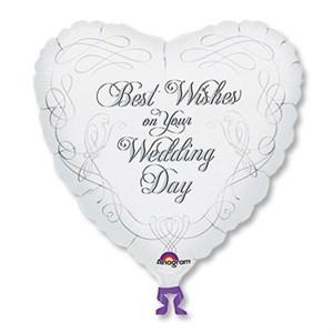 "Шар фольга 18"" Свадьба Best Wishes Wedding (AN)"