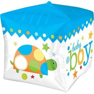 """Шар фольга 3D Куб 15"""" HB Малыш мальчик G20 (An)"""