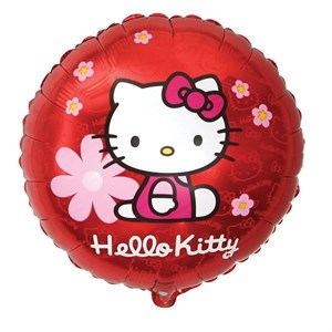 "Шар фольга 18"" Hello Kitty в цветочках (FM)"
