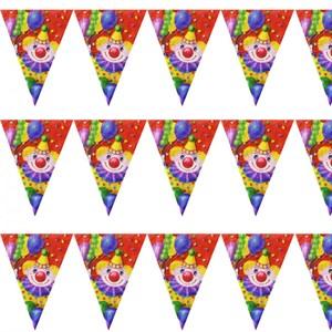 Гирлянда вымп Клоун с шарами 360см