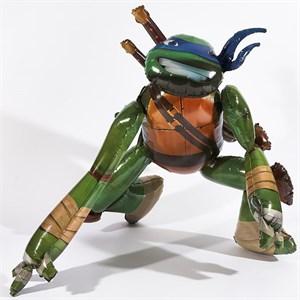 Шар фольга Фигура Ходячий Черепашки-Ниндзя Леонардо P80 (An)