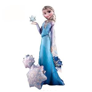 Шар фольга Фигура Ходячий Frozen Эльза снежная королева P90 (An)
