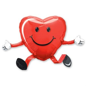 Шар фольга Фигура Ходячий Сердце P40 (An)