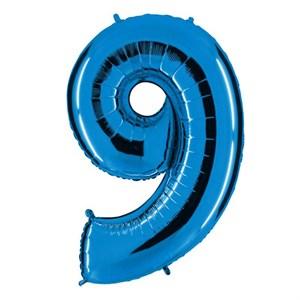 "Шар фольга Фигура ЦИФРА 9 Blue 40"" (Gr)"