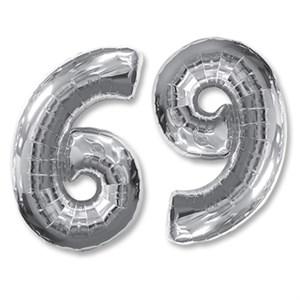 "Шар фольга Фигура ЦИФРА 6/9 Silver 40"" (FM)"