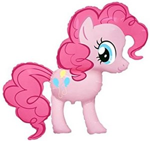 Шар фольга Фигура Пони розовый 11 (FM)