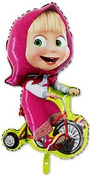 Шар фольга Фигура Маша на велосипеде (Gr)