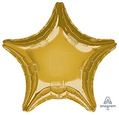 "Шар фольга 19"" ЗВЕЗДА Металлик Gold (An)"