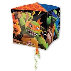 """Шар фольга 3D Куб 15"""" Черепашки-ниндзя G40 (An)"""