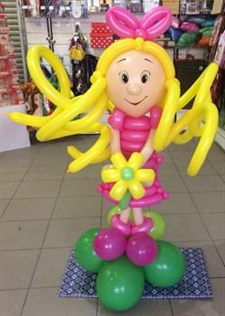 Фигура из шаров Девочка с цветочком /Л