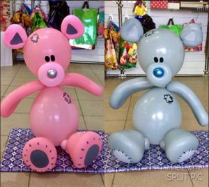 Фигура из шаров Медвежонок Тедди /Л