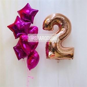 Фонтан для девочки с цифрой 2 №3