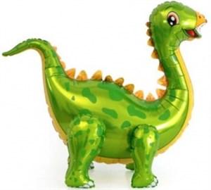 Шар фольг (36''/91 см) Ходячая Фигура, Динозавр Стегозавр, Зеленый, 1 шт. (воздух) /К