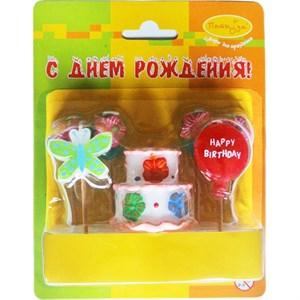 Свечи д/торта Праздничный торт 7шт /Мфп