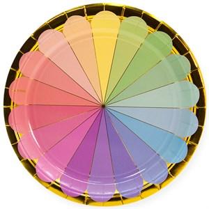 Тарелки (9''/23 см) Радужный спектр, Золото, 6 шт /Дб