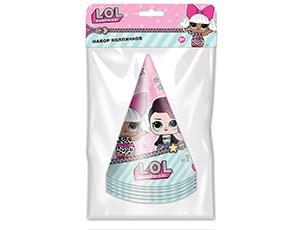 Колпак куклы ЛОЛ розовый 1шт. (6шт в уп)