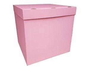Коробка 70х70х70см (для шаров) Розовая
